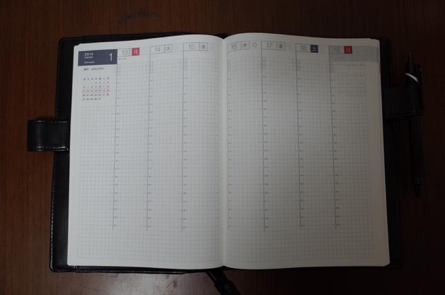 ほぼ日手帳開いたところ