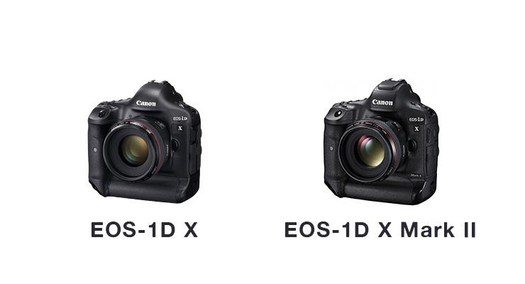 EOS-1D X、EOS-1D X Mark IIの性能比較